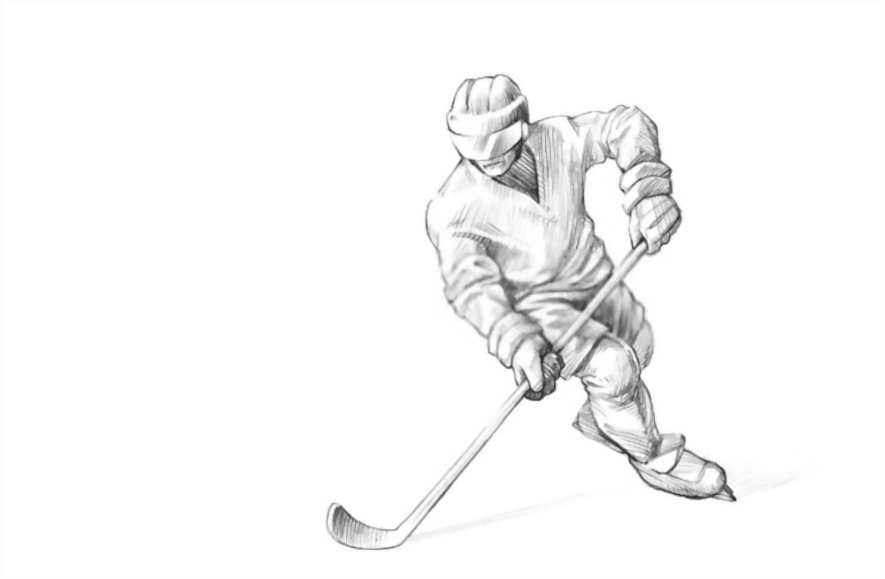 How To Draw A Hockey Player: Step-By-Step Instructions